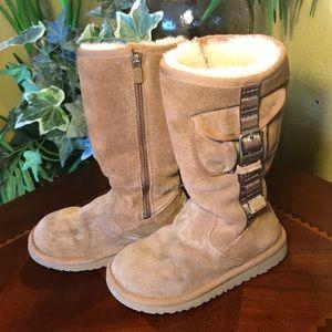 UGG Cargo Brown Zip Up Buckle Boots